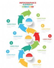 演示文稿流程步骤图表