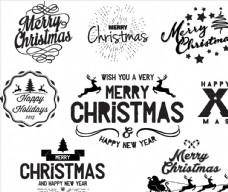 圣诞节英文招贴设计