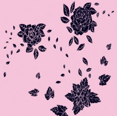 深紫色块产品图案设计元素PSD
