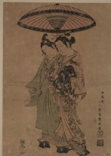 石川丰信浮世绘作品