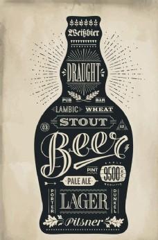 复古啤酒标签