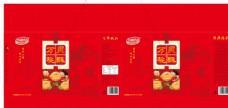 桃酥礼品盒包装平面展开图