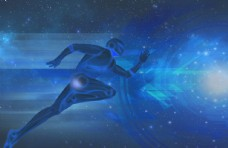 蓝色科技背景