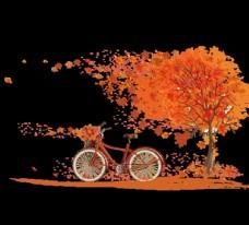 秋天的枫叶矢量