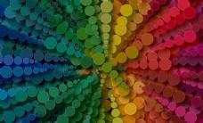 彩色几何渐变背景