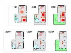 农村房屋室内平面图及家具规划图