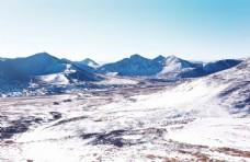 蓝天白云 雪山风景