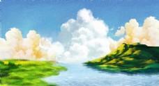 唯美湖岛景色