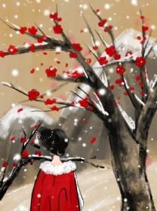 唯美踏雪寻梅