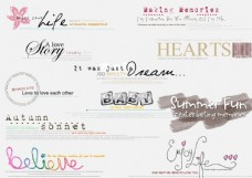 英文艺术字体分层