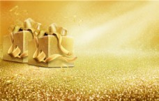 金色礼品盒背景
