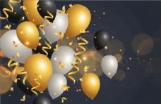 节日气球矢量素材