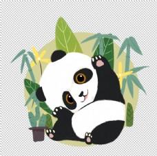 卡通熊猫免抠素材