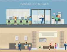 银行办公室内部