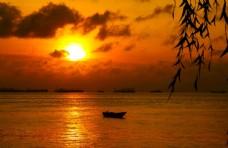 北海的夕阳