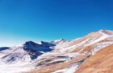 蓝天白云 雪山风景  藏区风景