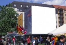户外广告牌 帷幕 无人电影院