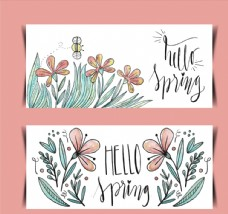 彩绘春季花草