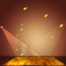 时尚大气灯光背景木地板分层素材