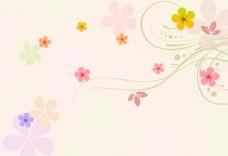 简约花朵背景墙