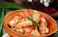 干锅花菜炒五花肉