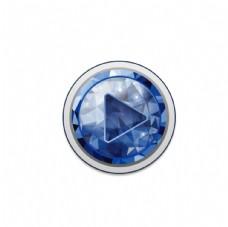 蓝色水晶按钮