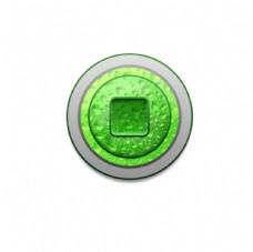 绿色水滴按钮