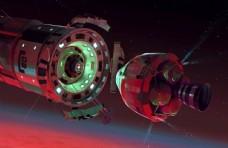 太空卫星插画