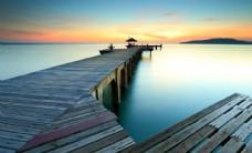 海边码头高清摄影
