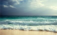 蓝天白云唯美海浪
