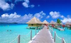 热带岛屿海滩自然风光高清风景