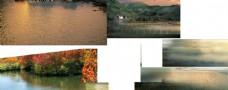 景观湖面素材驳岸驳岸后期