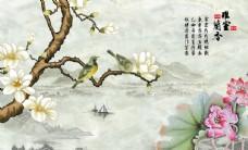 雅室兰香壁画大型