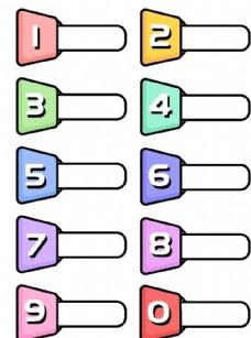 创意数字标签