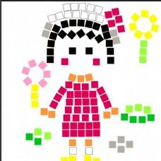 创意卡通人物  小丸子彩绘