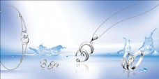K金套装珠宝广告画