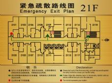 消防安全火警紧急疏散路线图矢量