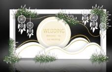 香槟色婚礼迎宾区效果图