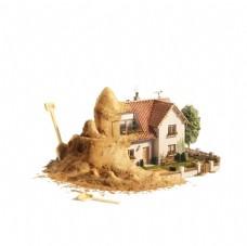 卡通房子 房子 童趣