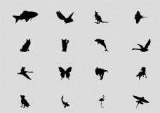动物剪影矢量图X4.cdr