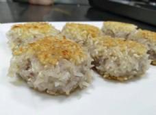 香酥糯米虾饼