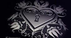 金属花纹背景