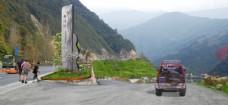 道路绿化乡村入口标志效果图
