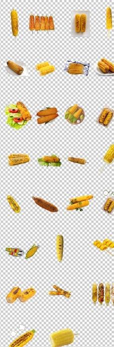 玉米烤玉米美味烧烤烤玉米金色