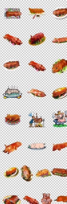 烤猪烤乳猪美味宴席烤全猪脆皮