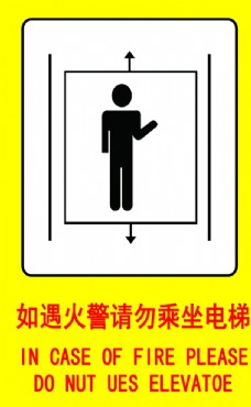 如遇火灾请勿乘坐电梯