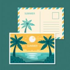 热带海岛明信片