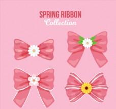 4款创意花芯粉色蝴蝶结