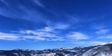 蓝天 白云 美景 山峰