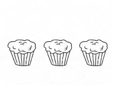 纸杯蛋糕线稿